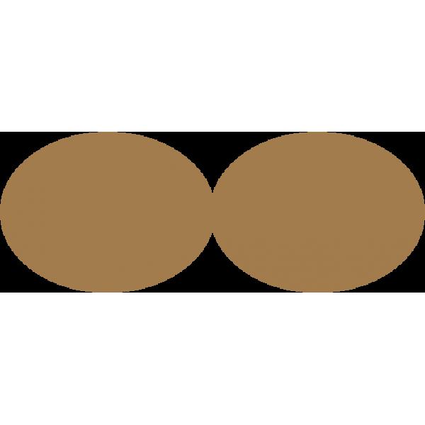 Chiudi busta ovale 10x3,5 cm